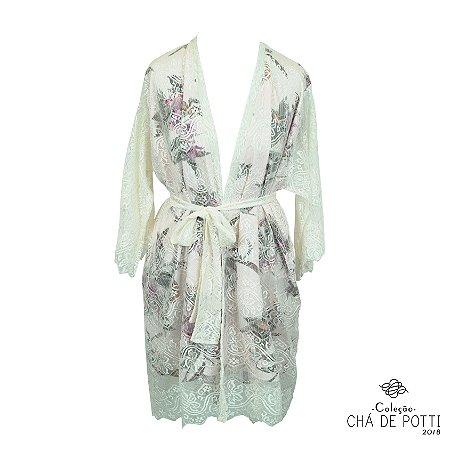 Coleção Chá de Potti 2018: Kimono Déjà Vu Freedom Renda Dupla