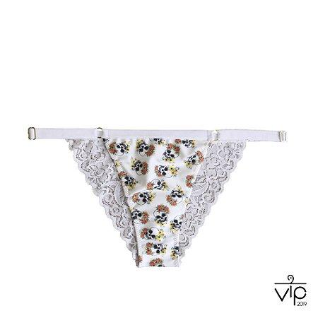 Campanha Vip 2019 : Calcinha Baiana de Fluity - Caveira Branco