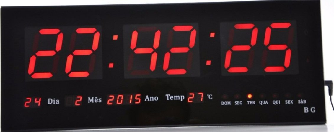 d12d4d92f81 Relógio Clock de Led de Parede para academia - Nippon Leds