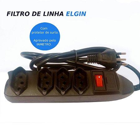 Protetor filtro de linha 4 tomadas Elgin com estoque em Manaus