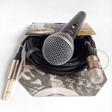 kit com microfone M58 e cabo 5 metros profissional MXT com estoque em Manaus