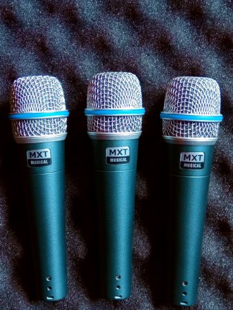 Microfone btm57 MXT, kit com 3 unidades