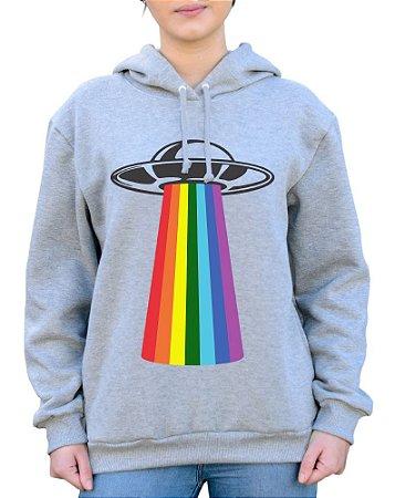 Moletom Unissex UFO Rainbow