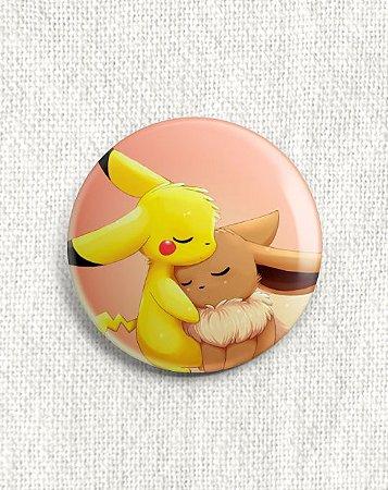 Boton Pikachu e Eevee - Pokémon