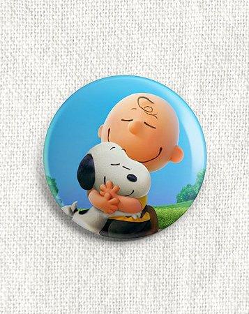 Boton Snoopy e Charlie Brown