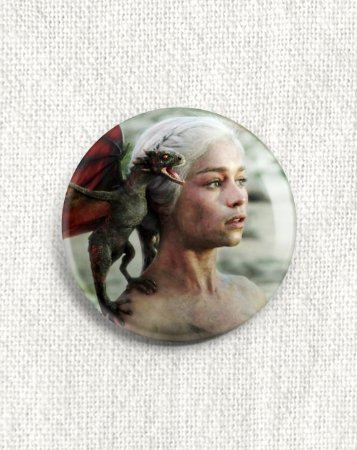 Boton Game of Thrones - Daenerys Targaryen