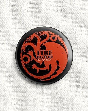 Boton Game of Thrones - Casa Targaryen