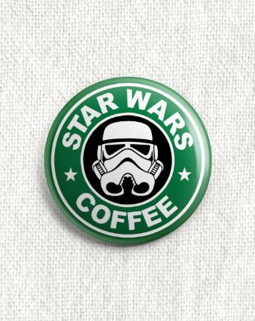 Boton Star Wars Coffee
