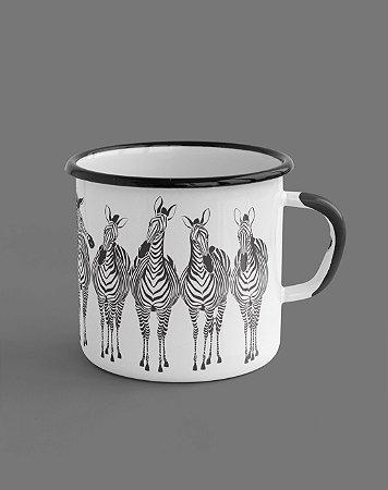 Caneca Esmaltada - Zebras