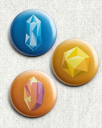 Kit 6 Botons - Os Vingadores - Joias do Infinito