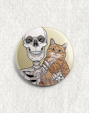 Boton Esqueleto e Gato Amarelo