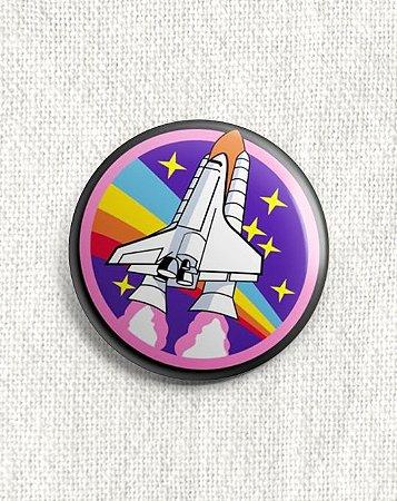 Boton Foguete Espacial