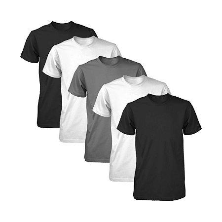 Kit com 5 Camisetas Masculina Dry Fit Part.B Fit