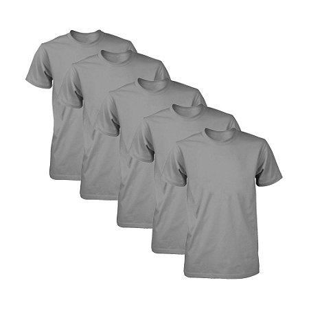 Kit com 5 Camisetas Masculina Dry Fit Part.B Chumbo