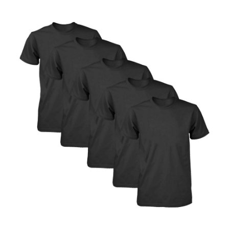 Kit com 5 Camisetas Masculina Dry Fit Part.B Preta