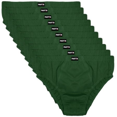 Kit com 10 Cuecas Slip Masculina Part.B Verde