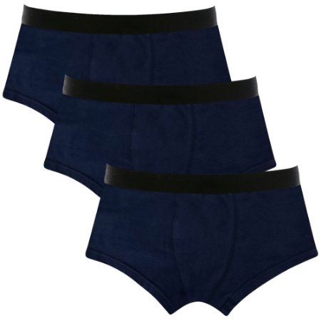 Kit com 3 Cuecas Sunga Cotton Basic Masculina Part.B Azul Marinho