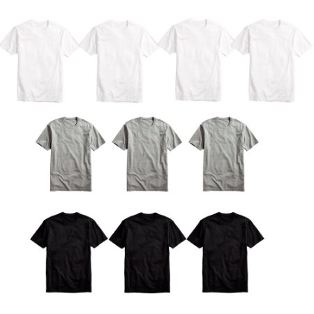 1b8b35d035ff4 KIT 10 CAMISETAS BÁSICAS MASCULINA T-SHIRT ALGODÃO COLORS TEE - Part ...