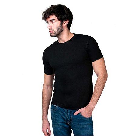 Camiseta Básica Masculina T-Shirt 100% Algodão Preta