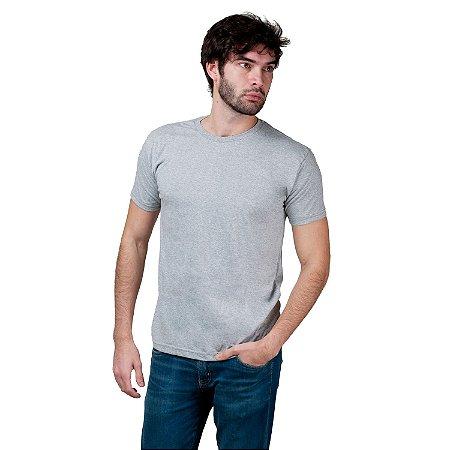 Camiseta Básica Masculina T-Shirt Algodão Cinza