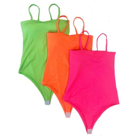 Kit com 3 Body Verão Total Neon Com Bojo