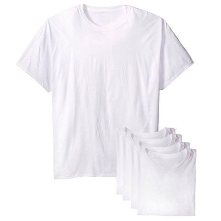 Kit com 5 Camisetas Infantil Lisa Branca 100% Poliéster