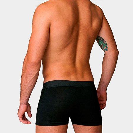 Kit Com 10 Cuecas Boxer Cotton Confort Masculina Part.B Preta