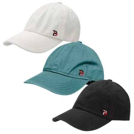 Kit com 3 Bonés Part.B Aba Curva Strapback Colors