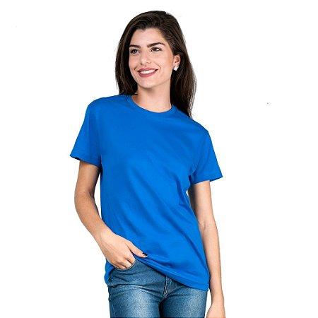 Camiseta Feminina T-Shirt Algodão Azul Royal Tee