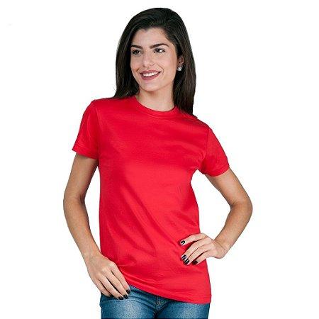 Camiseta Feminina T-Shirt Algodão Vermelha Tee