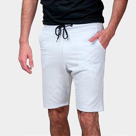 Bermuda Moletom Part.B Básico Masculina Branca