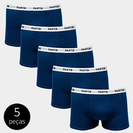 Kit Cueca Boxer Part.B Soft 5 Peças Azul