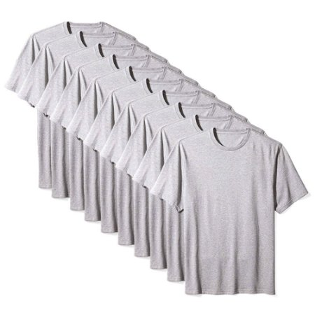 Camiseta Básica Masculina Algodão Kit 10 Peças Cinza