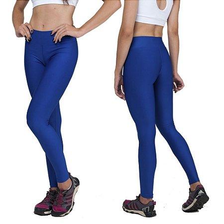 Kit com 2 Calças Legging Básica Suplex Azul