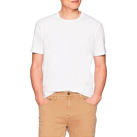 Camiseta Masculina Básica Algodão Premium Modelo Exclusivo Branca