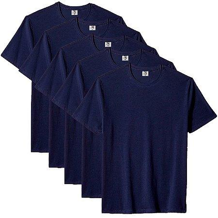 Kit com 5 Camisetas Masculinas Básica Algodão Part.B Premium Azul