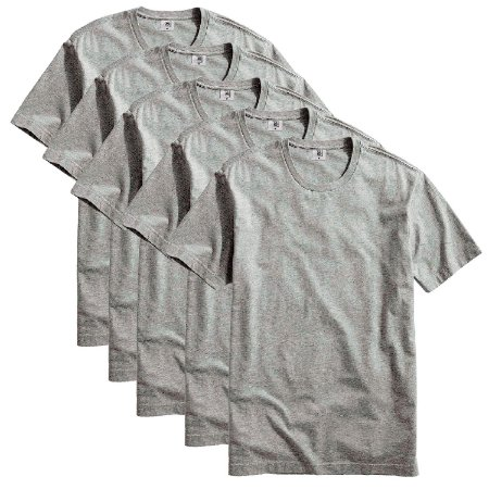 Kit com 5 Camisetas Masculina Básica Algodão Part.B Premium Cinza