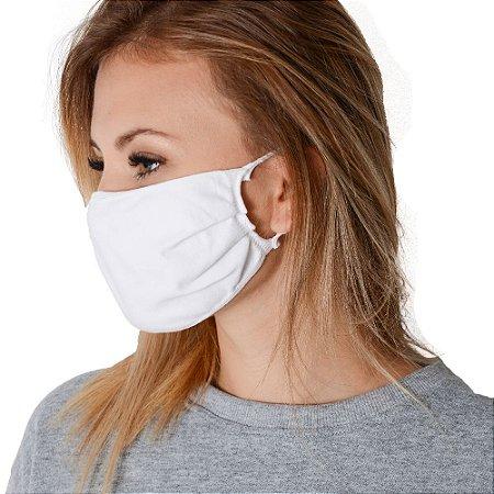 Kit de Máscara de Proteção Adulto Tecido com Elástico Lavável 10 Peças