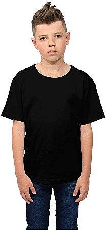 Camiseta Básica Infantil Com Gola Redonda