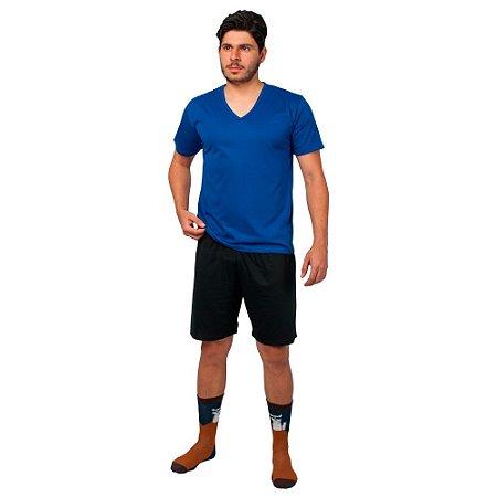 Conjunto Pijama Masculino Básico Verão Azul e Preto
