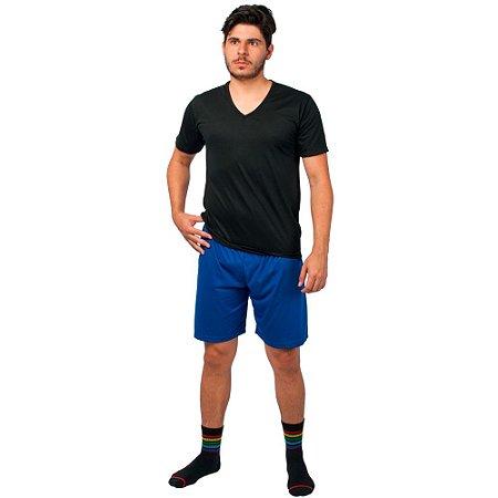 Conjunto Pijama Masculino Básico Verão Preto e Azul