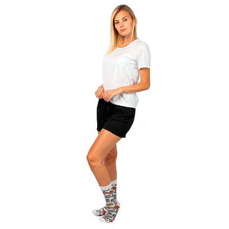 Conjunto Pijama Short Dolll Básico Branco e Preto