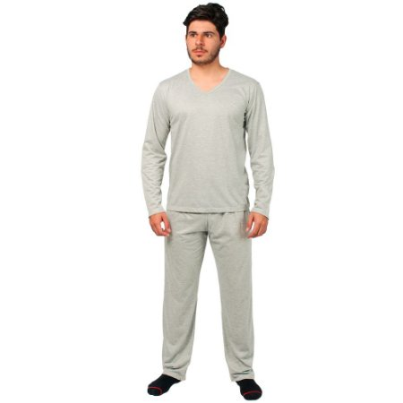 Conjunto Pijama Masculino Básico Manga Longa