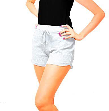 Short Canelado Fashion Feminino Branco