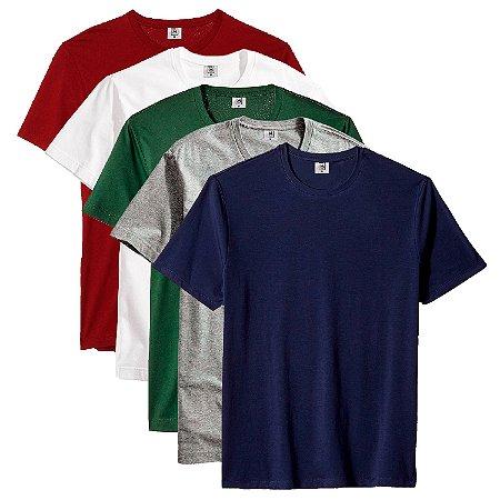 Kit Com 5 Camisetas Masculina Básica Algodão Part.B Premium Macarella