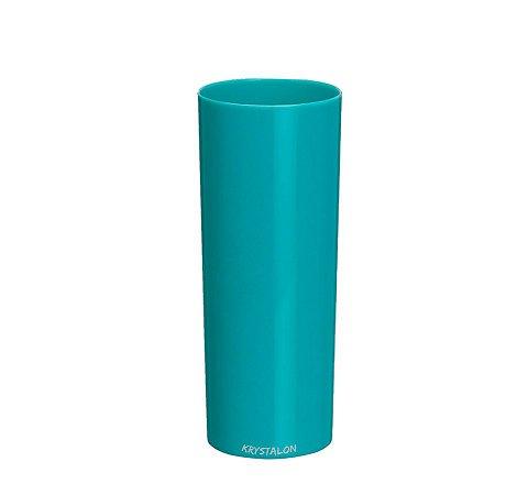 Copo Long Drink Azul Tiffany Acrilico 300ml