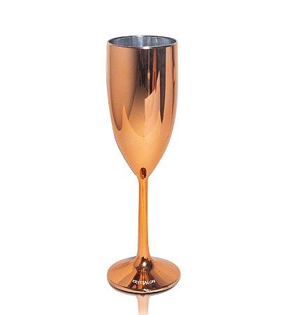 Taça Champagne Cromada Cobre 170ml - Poliestireno Acrilico PS
