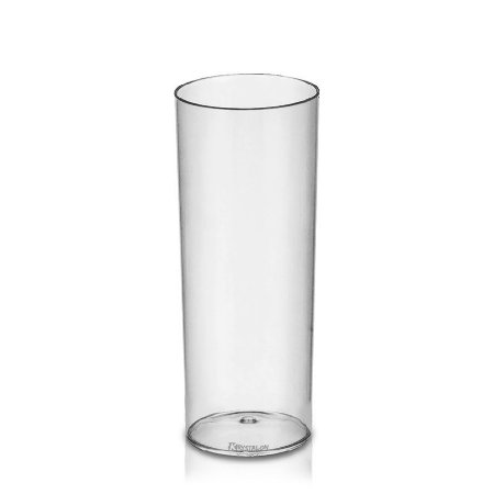 Copo Long Drink Tubo para festas 300ml - Poliestireno Acrilico PS