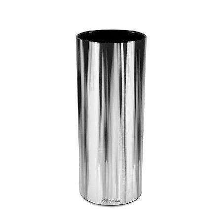 Copo Metalizado Prata 300ml - Poliestireno Acrilico PS (Minimo de 100 peças para personalizar)