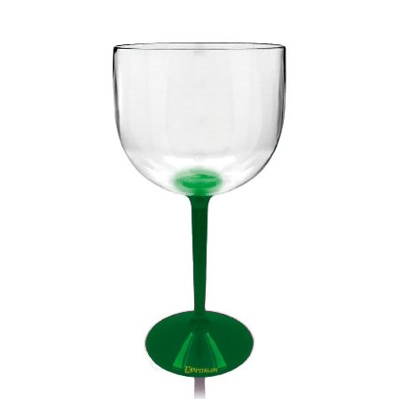 Taça Gin Base Verde 550ml - Poliestireno Acrilico PS